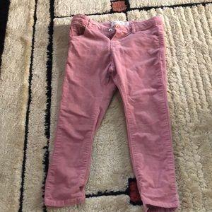 EUC Corduroy Pink Pants Size 3/4 Zara